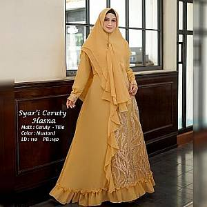 Tk Syari Ceruty Hasna Mustard