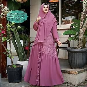 Tk Syari Ceruty Saffon Purple