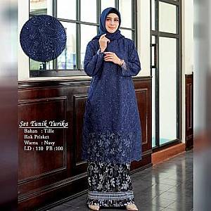 Tk Set Tunik Yurika Navy