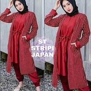 Lvr SET Stripi Japan Merah