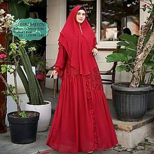 Tk Syari Ceruty Saffon Red