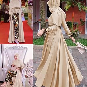 LVR SET Mafaza Cream Batik Set