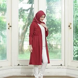 sL-Zara Kimmy Long Cardi(Real Pict) Maroon