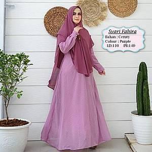 Tk Syari Ceruty Purple Fahira