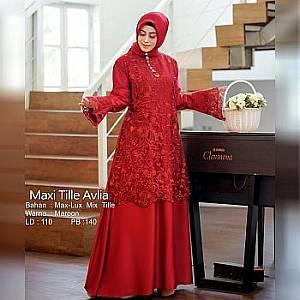 Tk Maxi Tille Avlia  Maroon