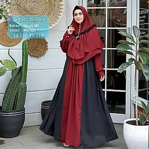 Tk Syari Ceruty Salwa Maroon