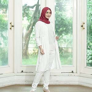 sL-Zara Kimmy Long Cardi(Real Pict) Putih