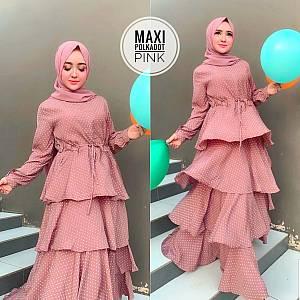 TK1 Maxi Polkadot Pink