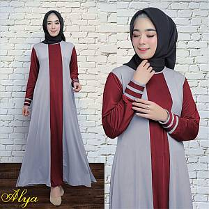 1). 46-Alya dress Grey (REAL PICT)