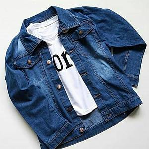Jaket Jeans Dark Blue