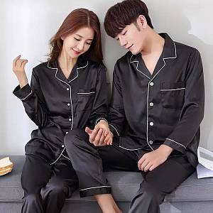 couple piyama korea hitam