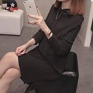 Bc tunik hoodie hitam