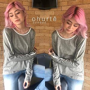 Grey list sweater