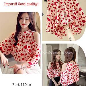 Pm heart blouse