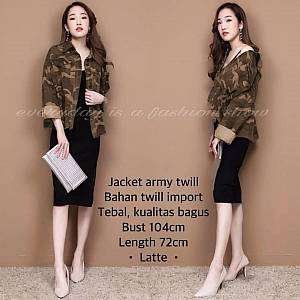 Pm.jaket army twill