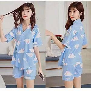 Bc kimono set rabbit blue