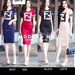 Pm knit fendy bodycon