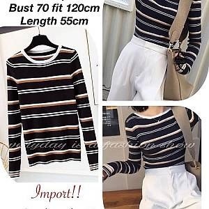 Pm long knit stripe