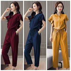 Pm jumpsuit hand ruffle