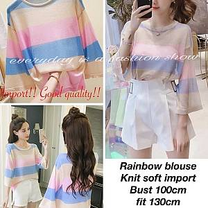 Om rainbow blouse