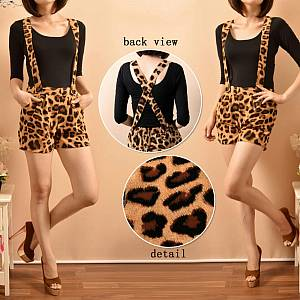 Celana pendek hotpants leopard