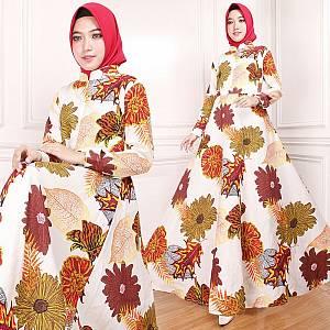 Maxi Dress Indah Putih (Real Pict)