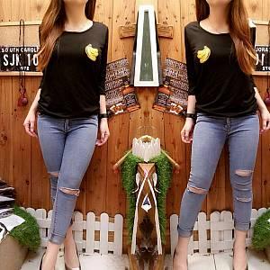 T-Shirt Banana Black