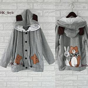 Hodie kid Bear rabbit Grey