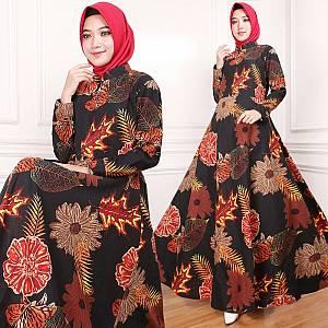 Maxi Dress Indah Hitam (Real Pict)