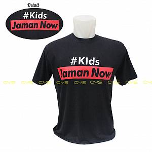 Kaos Distro Kids Zaman Now ( Black )