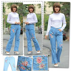 Pant jeans Cutbray Rose Ligth Blue