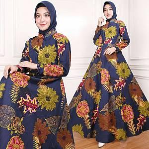Maxi Dress Indah Navi (Real Pict)