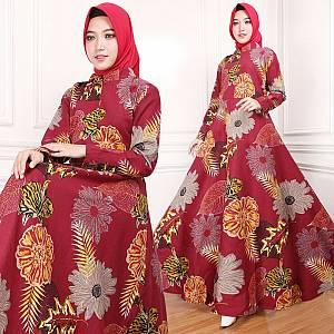 Maxi Dress Indah Maroon (Real Pict)