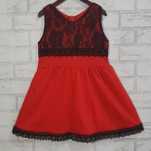 Dress Anak Brukat Merah