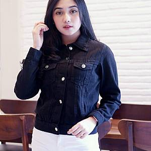Jaket Jeans Black