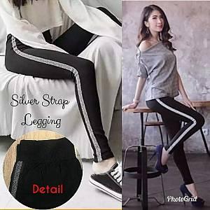 Pm silver strap legging