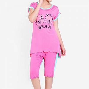 Khloe Bear 805-10 Sleepwear set Fanta