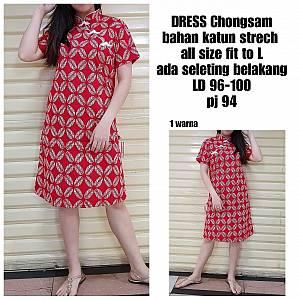 Red dress chongsam