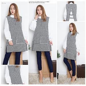 Victoria houndstooth dress