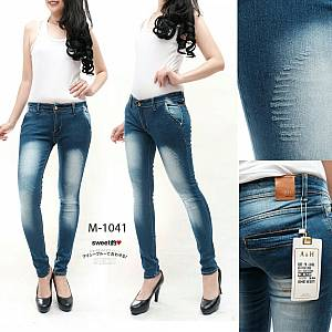 Softjeans Electric Blue Ripped Laser size 27-30