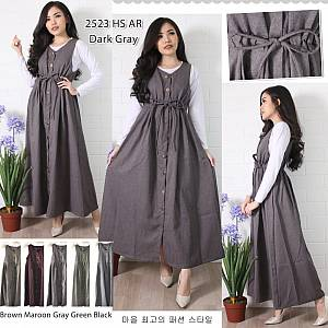 Overall kancing rok Outer set