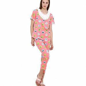 Smile Polka 202 set Sleepwear Orange