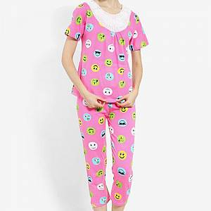 Smile Polka 202 set Sleepwear Pink