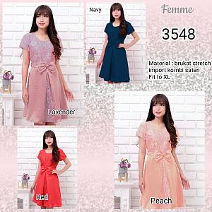 Dress 3548 brukat silk stretch import