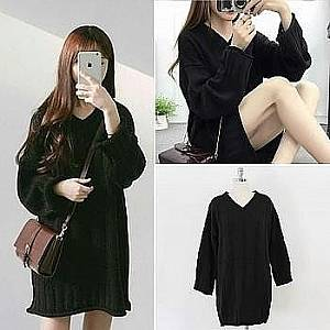 C2 dress rajut black
