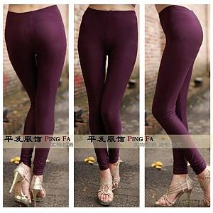 Legging Fashion Kilat Ungu Tua