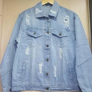 DLine Denim Jacket Oversized - Light Blue
