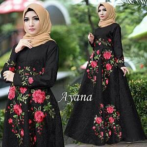 1). 46-Dress Ayana embos hitam