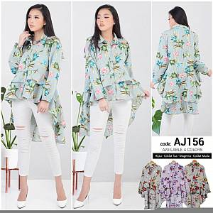 Flowery Pinguin Top