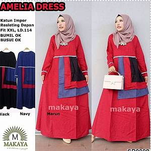 Ammelia Dress - RED ON MODEL